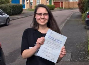 Anna passed with bedford Driving School